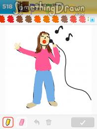 Drawn singer #1