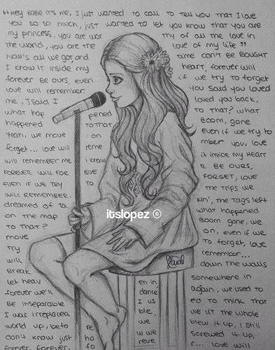 Drawn singer Siento cantar  ♡ Me