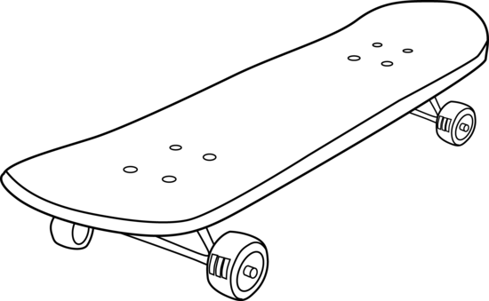Drawn skateboard Clipart Download White And And
