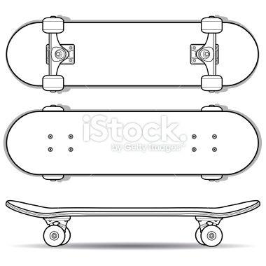 Drawn skateboard Art Pin Examples Outline Outline