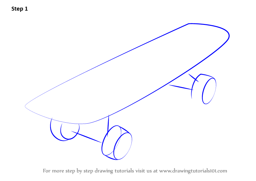 Drawn skateboard #14