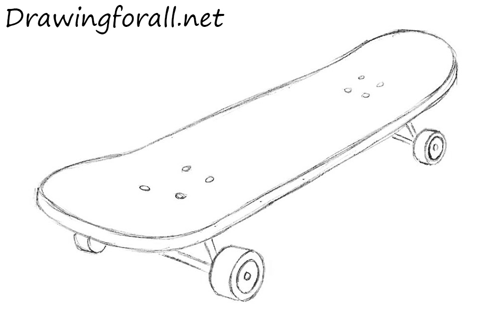 Drawn skateboard A skateboard net to DrawingForAll