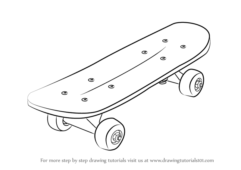 Drawn skateboard #10