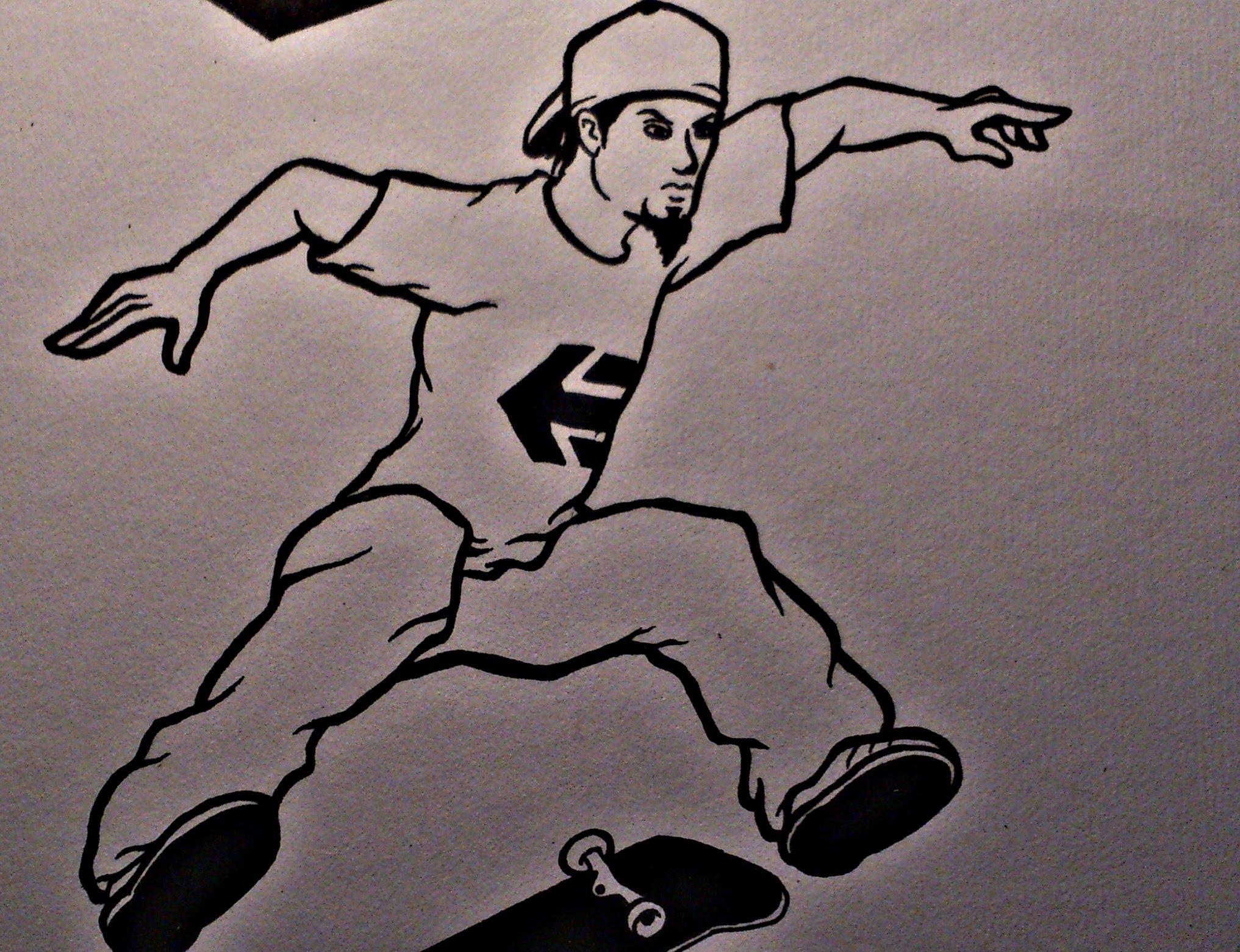 Drawn skateboard guy How a a to Skater