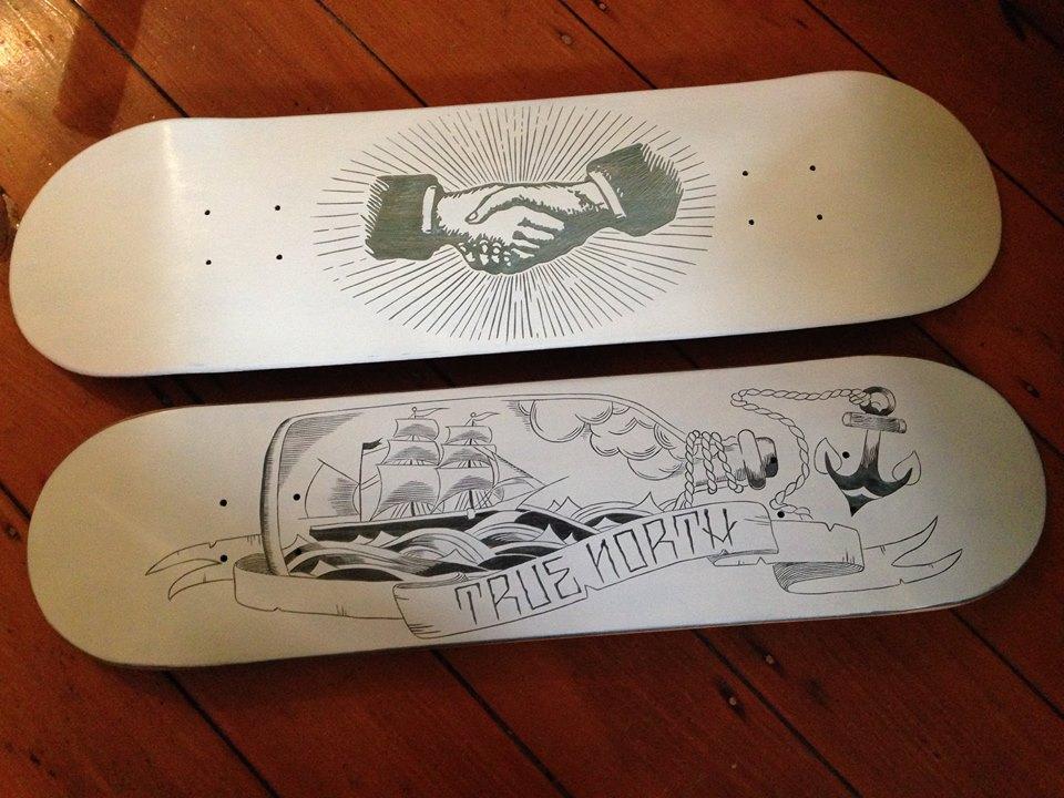 Drawn skateboard plywood Boards Skateboard grain Against Skateboards