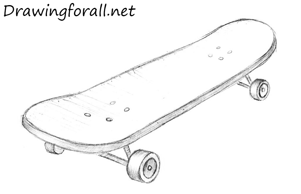 Drawn skateboard realistic To to Skateboard a draw