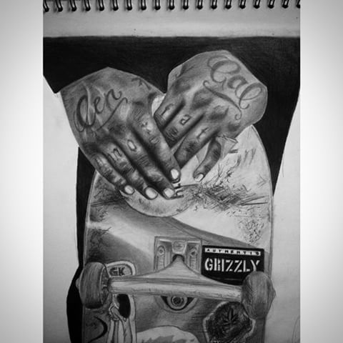 Drawn skateboard realistic Sleep #blackandwhite Annelie #drawing #draw