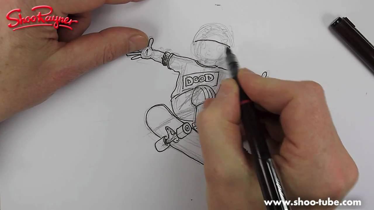 Drawn skateboard realistic How YouTube draw to