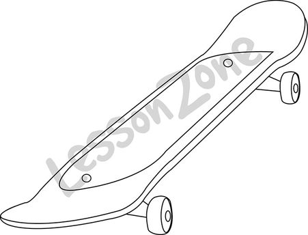 Drawn skateboard realistic B&W Zone Lesson Skateboard AU
