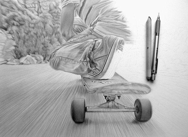 Drawn skateboard realistic 64 Pinterest old best Skateboard
