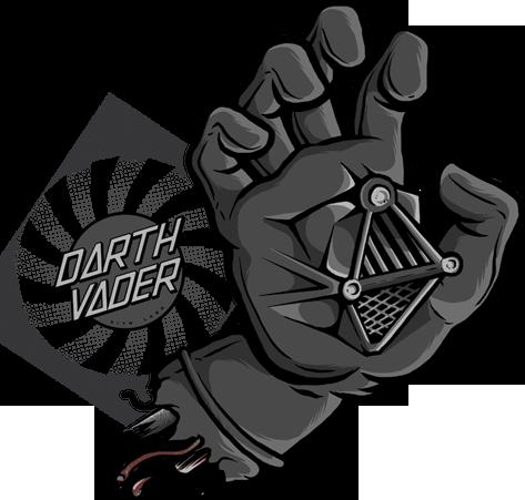 Drawn skateboard screaming hand Em influências e Hand Wars
