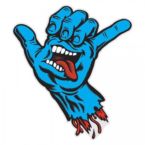 Drawn skateboard screaming hand Zombie Santa hands draw Cruz