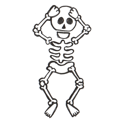 Drawn skeleton Skeleton Draw comic Lesson draw