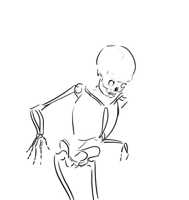 Drawn skeleton Skeleton skeleton drawn drawn badly