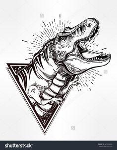 Drawn skeleton abstract Ideas  imagen skull dinosaur