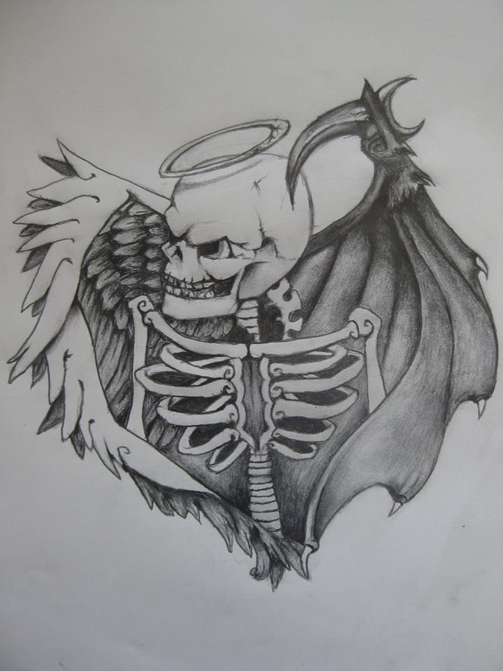 Drawn skeleton angel Evil  Search 25+ Good