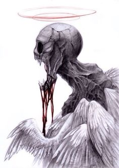 Drawn skeleton angel Drawing …  Pinterest skull