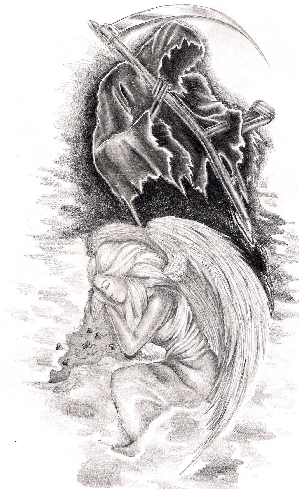 Drawn skeleton angel Death  DeviantArt and Death