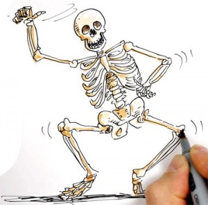 Drawn skeleton dancing The dance a last Psy