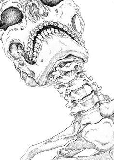 Drawn skeleton detailed Resultado drawing draw de skeleton