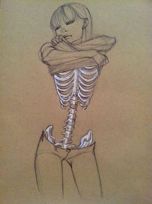 Drawn skeleton female skeleton – tribeunity Human Easy art