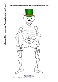 Drawn skeleton funnybones Funnybones Funnybones Resources SparkleBox Advertisements