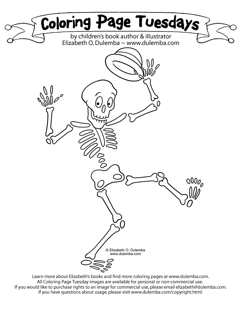 Drawn skeleton funnybones Coloring Skeleton! Page  dulemba:
