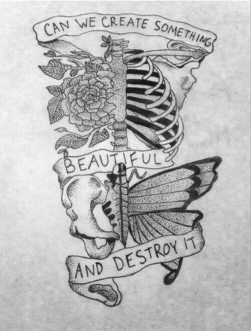 Drawn skeleton heart tumblr In art Auro veil tumblr