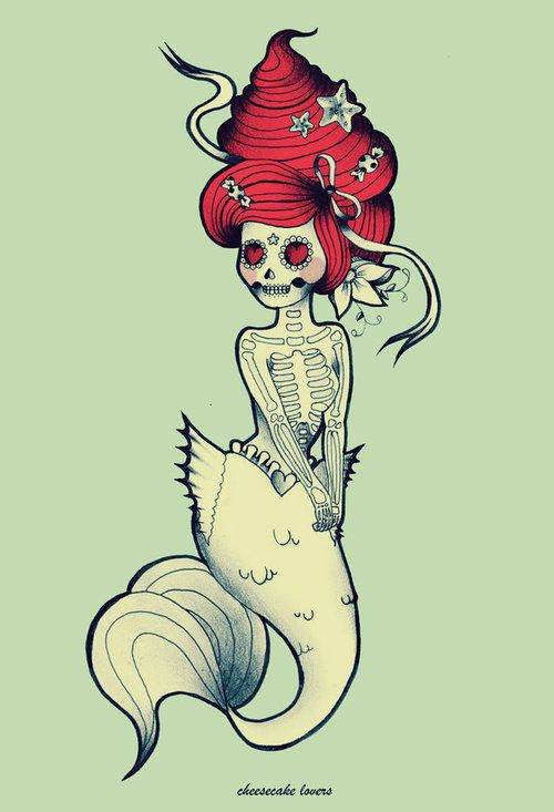 Drawn skeleton little Mermaid But ideas my might