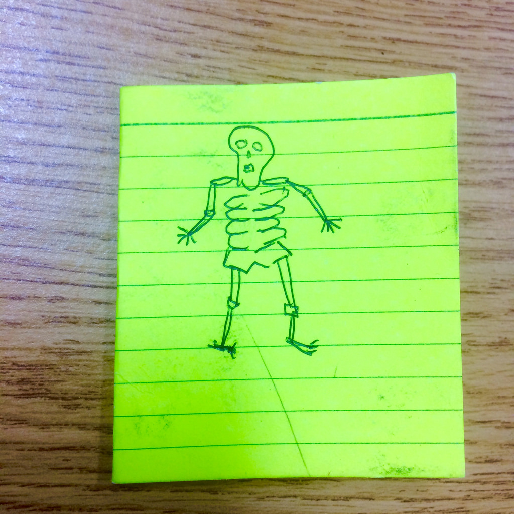 Drawn skeleton real I find drawn because Hand