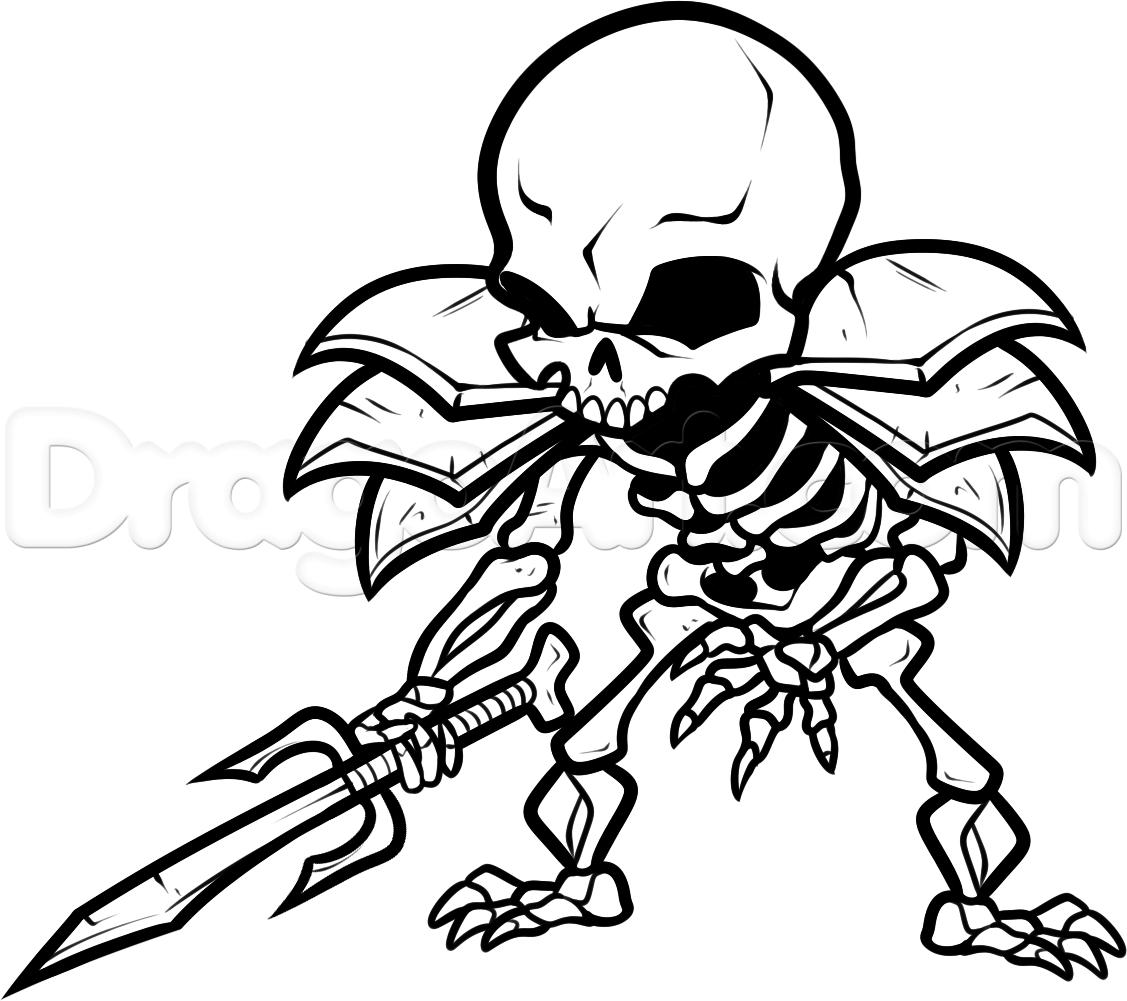 Drawn skeleton skeleton warrior Draw Draw Skeleton Warrior 12