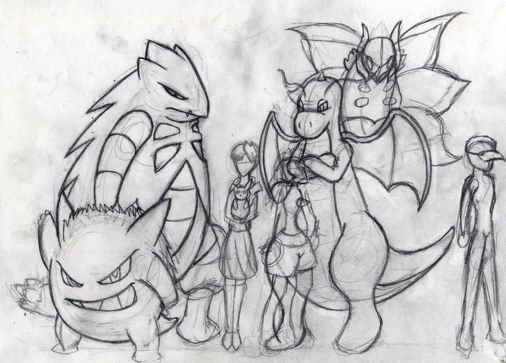 Drawn sketch 1 Pokemon drawn drawn Hand