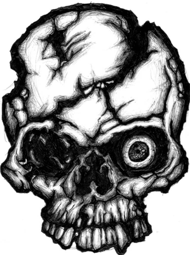 Drawn ssckull By on drawn Skull by