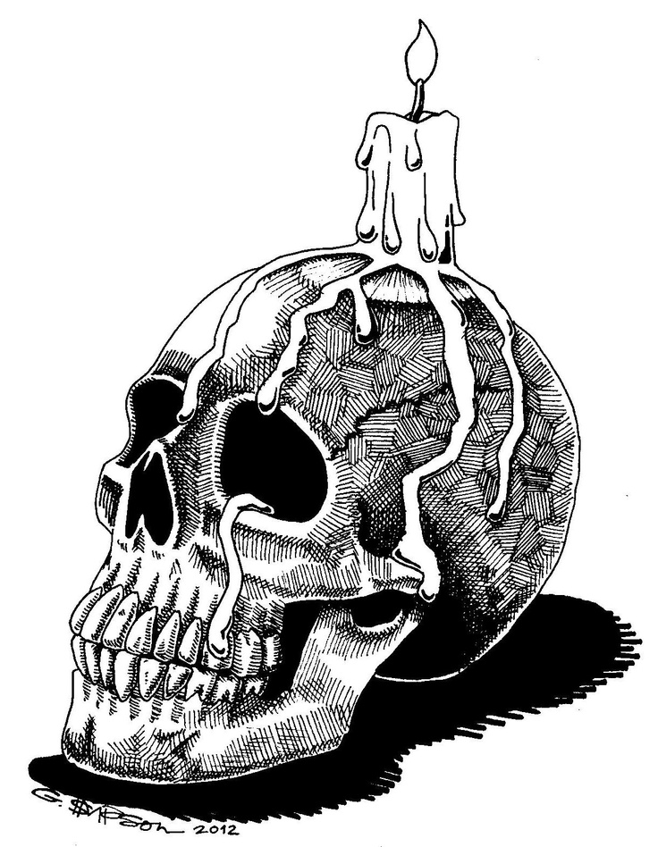 Drawn skull candle Images and Skull 19 Illustration