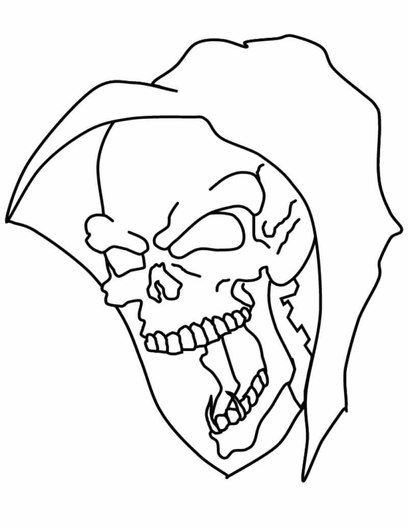 Drawn skull coloring page Coloring coloring pages coloringstar free