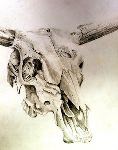Drawn skull cow Tattoos by tattoo bull Search