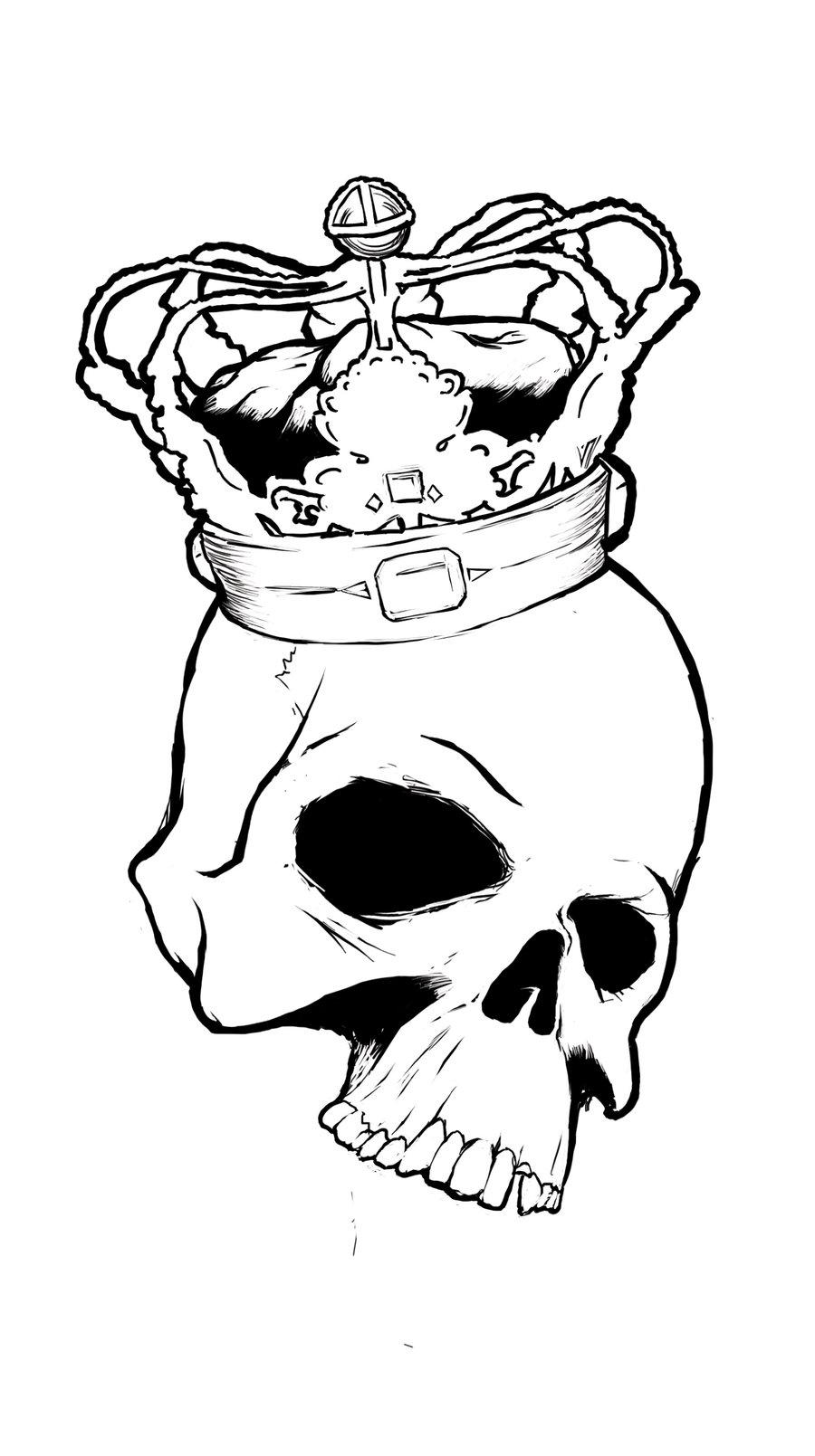 Drawn skull crown drawing Skull Crown Skull crown Crown