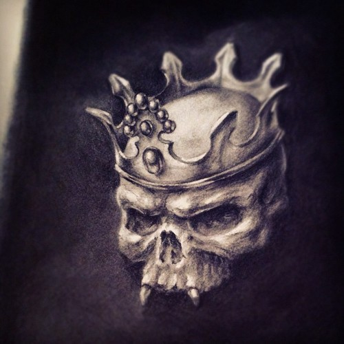Drawn skull crown drawing With Drawings With lost Drawings