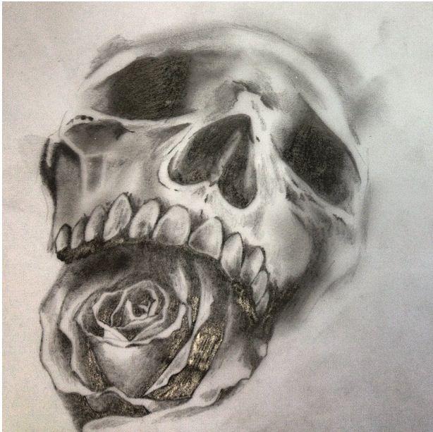 Drawn skull designer #drawing #sketch Sketch Drawings #tattoo