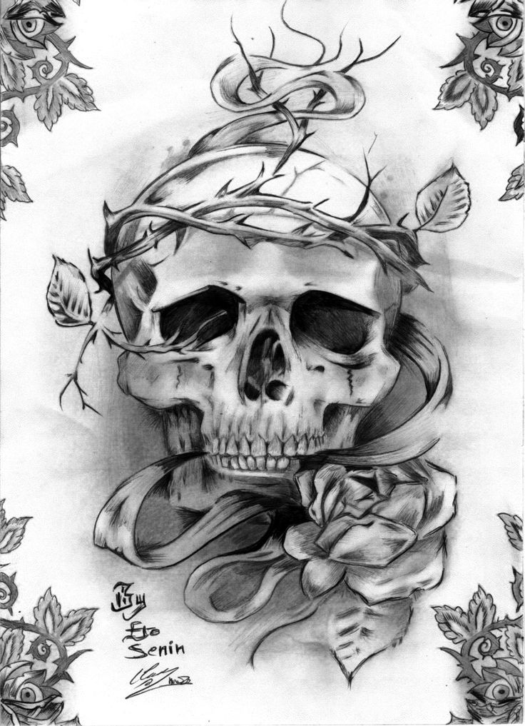 Drawn skull designer Designs/ designs tattoo Drawing Ideas