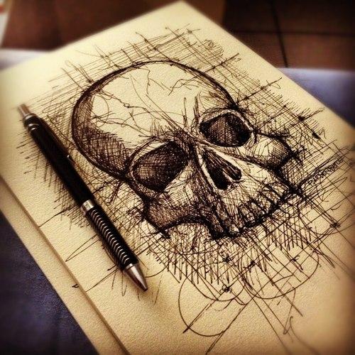 Drawn skull designer Designs Felipe by art Skull