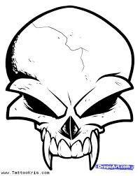 Drawn skull designer Cool and Pin Pigma Micron
