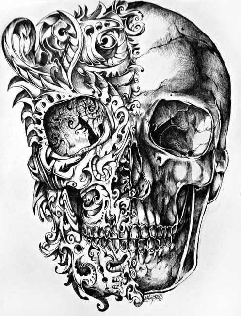Drawn skull pinter And things (all this 1