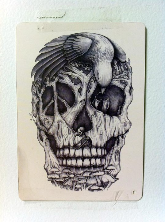 Drawn skull unique But without the the unique