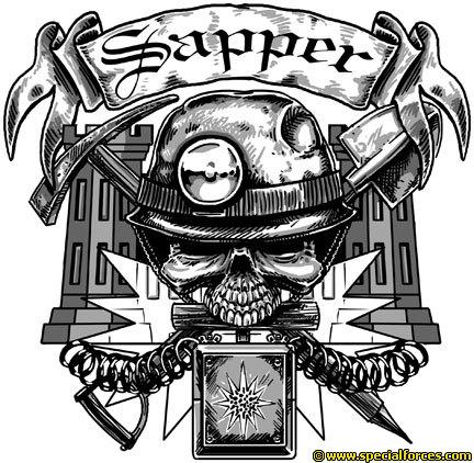 Drawn skull us army Are son Skull Army sapper!