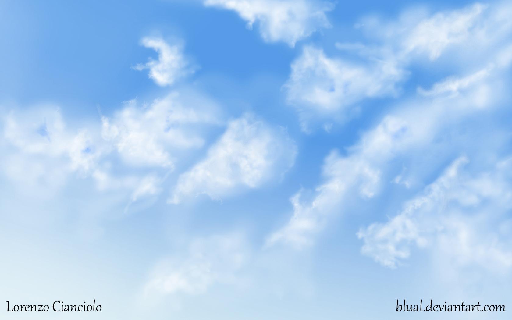 Drawn sky Sky sky Blual Blual by