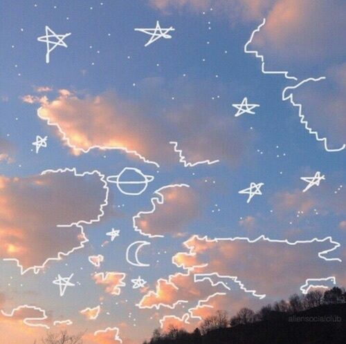 Drawn sky day time 25+ Imagen drawing aesthetic Pinterest
