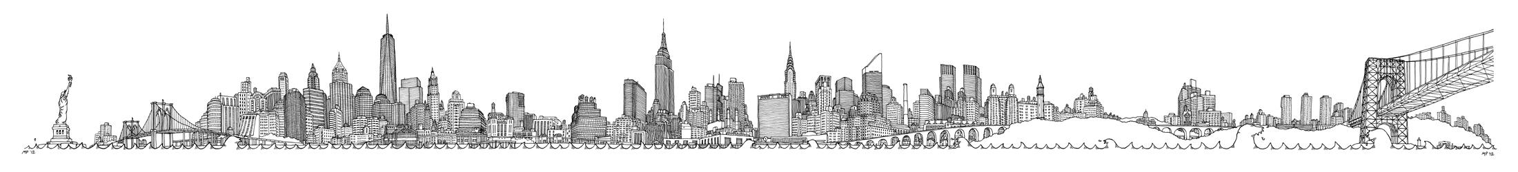 Drawn skyline #8