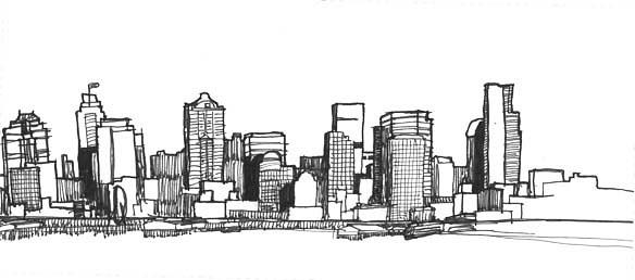 Drawn skyline #11