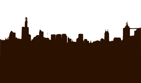 Drawn skyline Clker Art free vector clip